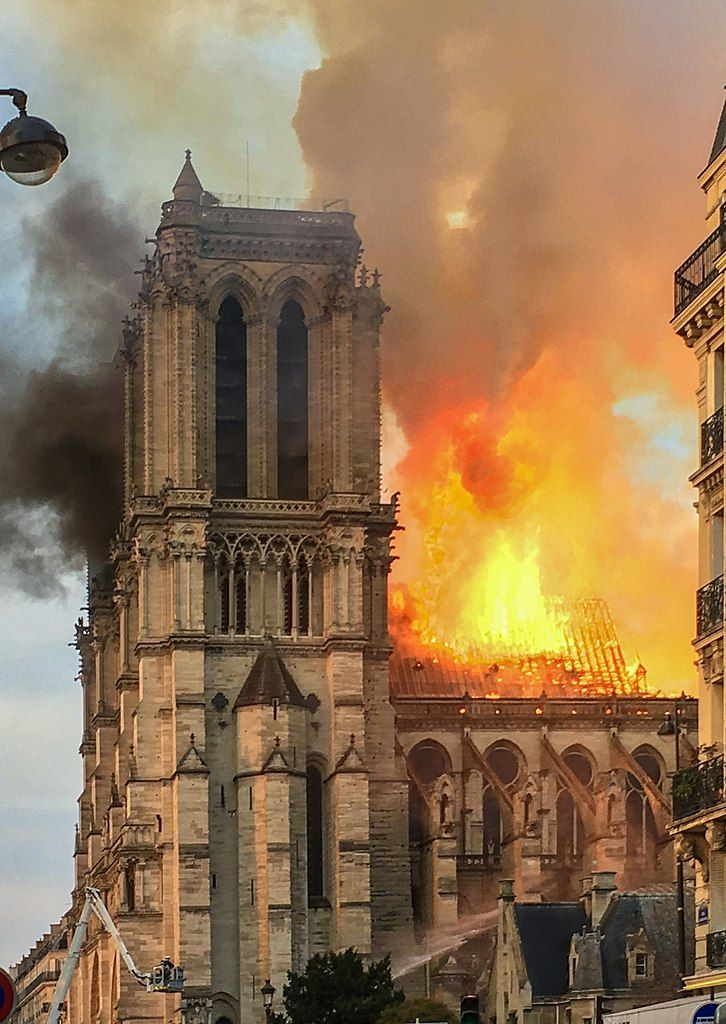 A Charred Cathedral in Paris and A Modern Masterpiece in Glass: Le Jongleur de Notre Dame