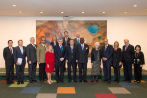 The Global Citizenship Commission at the United Nations with Secretary-General Ban Ki-moon (Courtesy UN Photos)